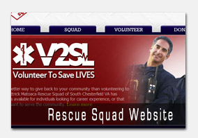 Rescue Squad Web Design
